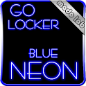 Blue Neon GO Locker theme icon