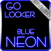 Blue Neon GO Locker theme