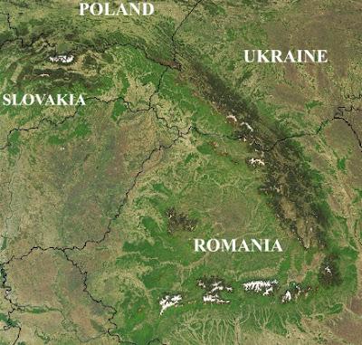 Carpathian Mountains by Nasa image