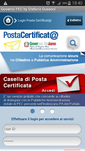 WebMail Mobile Governo PEC