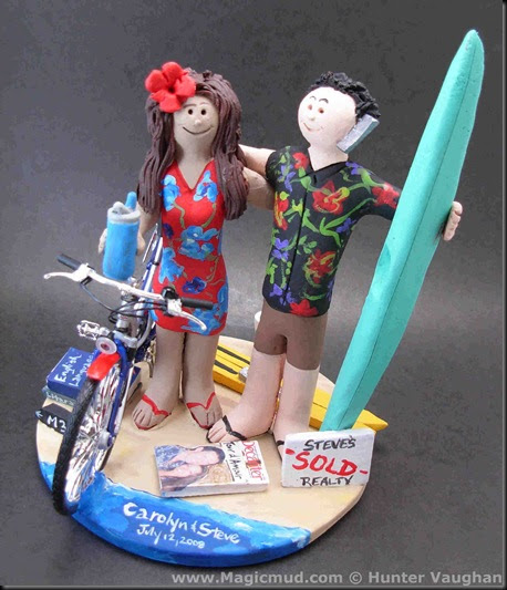 surfer wedding cake topper custom wedding cake toppers hawaiian shirts cake topper 20657