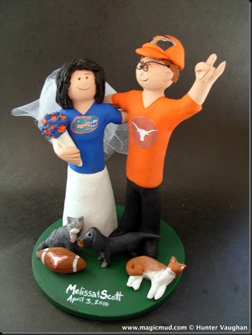 florida state wedding cake toppers custom wedding cake toppers longhorns wedding cake 14327