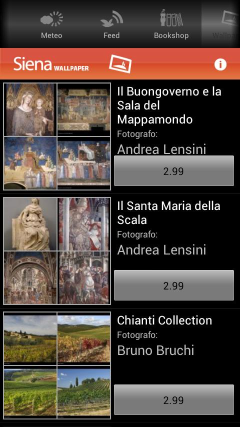Siena App - screenshot