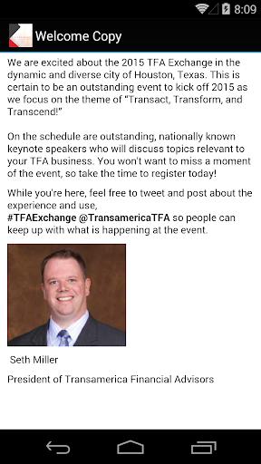 2015 TFA Exchange