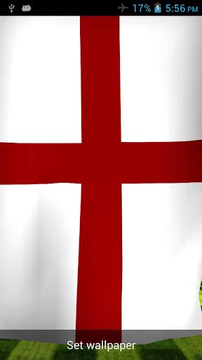 England 3D Flag Live Wallpaper