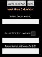 Screenshot of HVAC Utility App