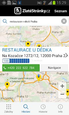 ZlatéStránky.cz- zlaté stránky - screenshot