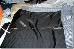 Front lining with waistband attached