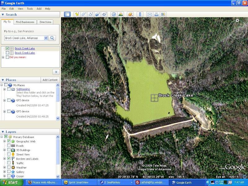 Google Earth and GPS usage. on