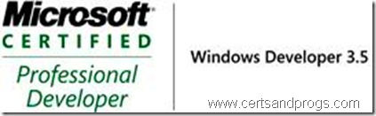 MCPD Windows Developer 3.5