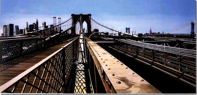Richard Estes - Brooklyn Bridge 1993 oil on canvas