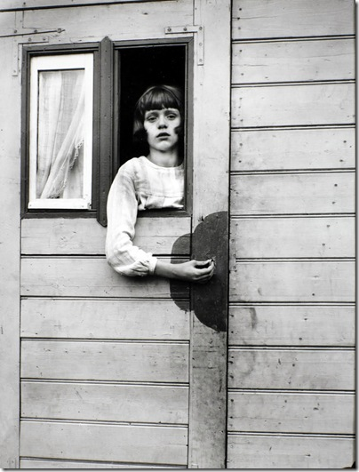 August Sander  - Girl in a Circus wagon