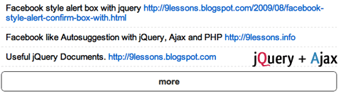 Twitter Style Load More Results with jQuery and Ajax.