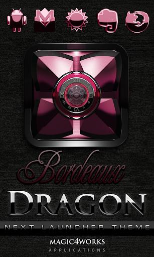 Next Launcher Theme Bordeaux D