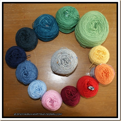 Color Wheel Socks - yarn choice