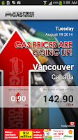Screenshot of Tomorrow's Gas Price Today