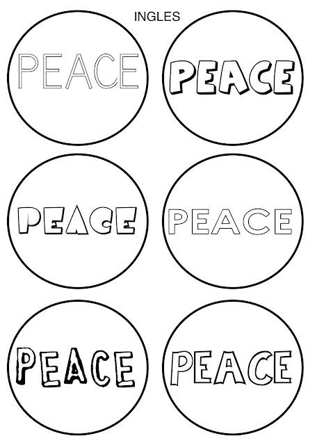La Paz En Idiomas Dibujos Para Colorear De La Paz