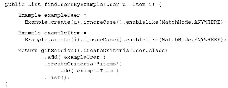 Advanced query options (Hibernate)