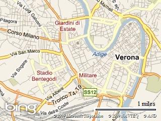 Verona Map, Italy