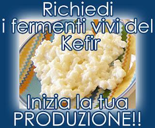 Con i fermenti vivi del Kefir si ottiene il Kefir di latte e d'acqua