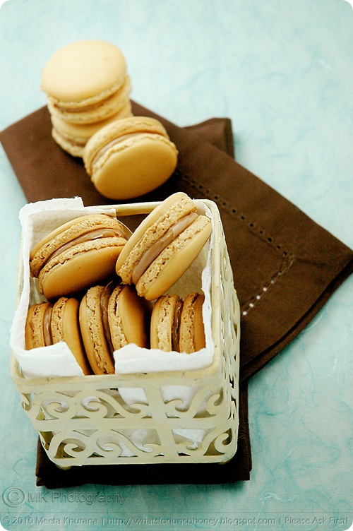 Spiced Chai Latte and Salted Caramel Macarons (01) by MeetaK
