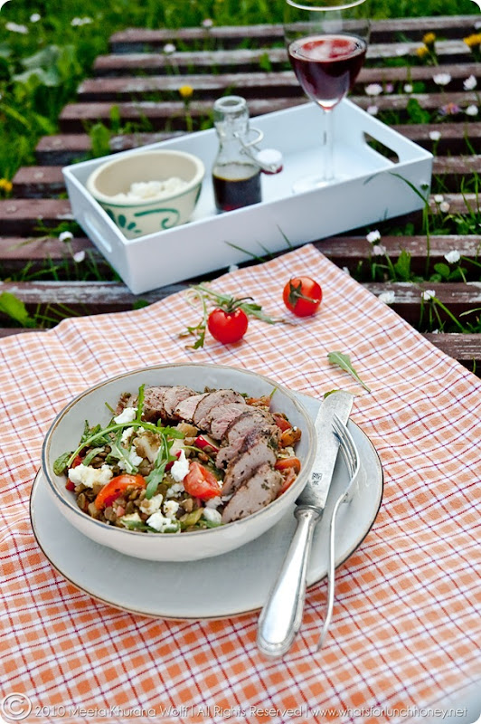 Lamb Lentil Salad (0004) by Meeta K. Wolff
