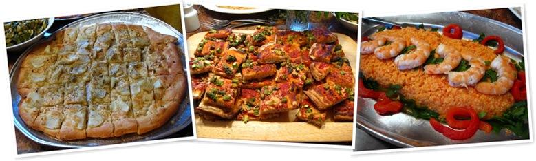View pizze, shrimp