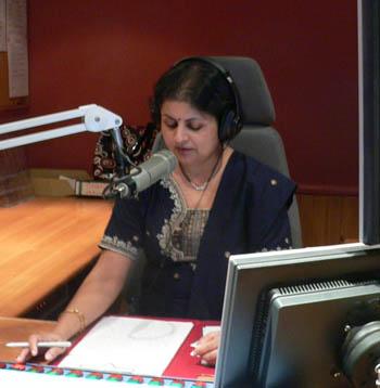 Aradhana Bhatt in studio