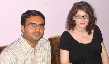 Haley Houseman with Devang Vibhakar