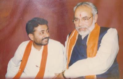 Nalin Zaveri with Narendra Modi