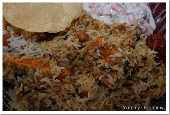 Spicy fish biriyani