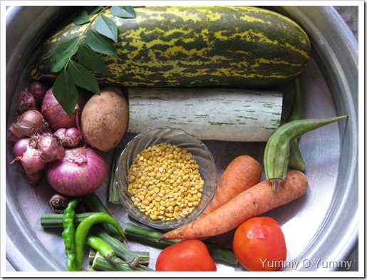 Veggies for sambar