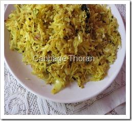 Cabbage Thoran