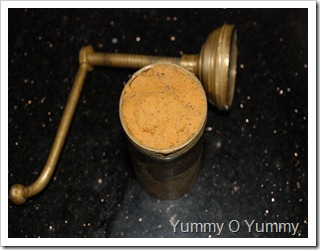 Idiyappam maker / murrukku press filled with the dough