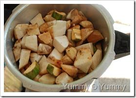 Cubed veggies