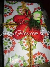 Como decorar un regalo para navidad