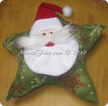 Cojin Navideno De Papa Noel Manualidades Mamaflor - Manualidades-navideas-papa-noel
