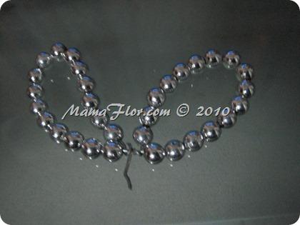 Angelito de Perlas para el Arbol Navideño 0236