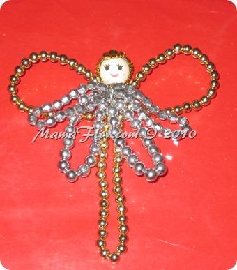 Angelito de Perlas para el Arbol Navideño 0244