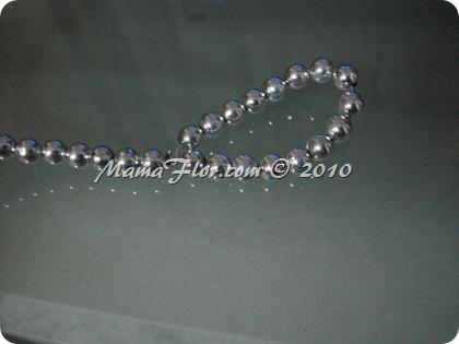 Angelito de Perlas para el Arbol Navideño 0235