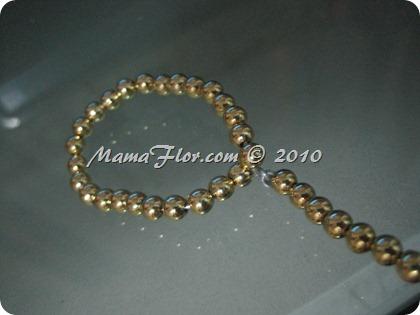 Angelito de Perlas para el Arbol Navideño 0238