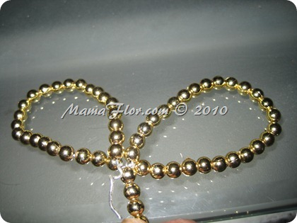 Angelito de Perlas para el Arbol Navideño 0239