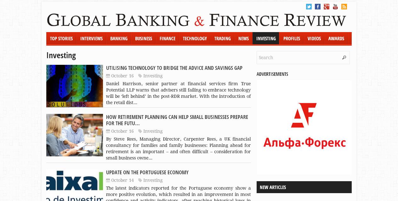 Global Banking And Finance.com - screenshot