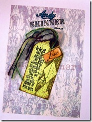 Andy skinner stamed decoart tag