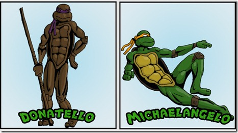 ninja turtles as classical art2
