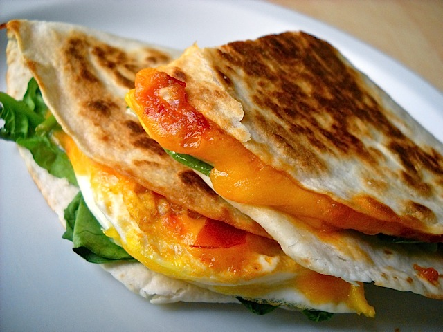 Chili Garlic Breakfast Quesadillas