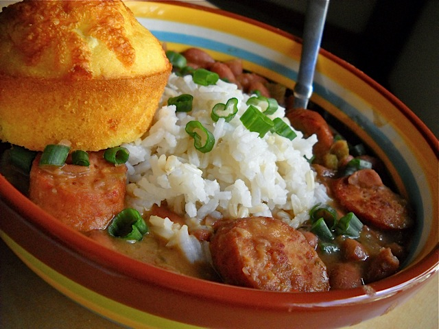 Red Beans Rice Cornbread