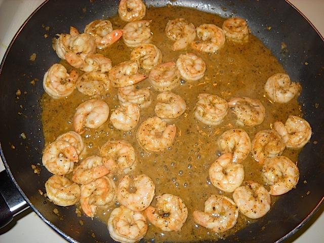 cook marinated shrimp