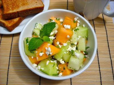 Melon, Mint & Feta Salad