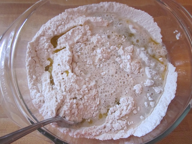combine with flour